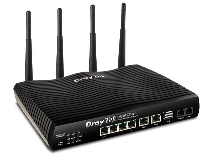 Draytek Vigor2926 5p Gigabit Dual-WAN vezeték nélküli Router 5bec870381